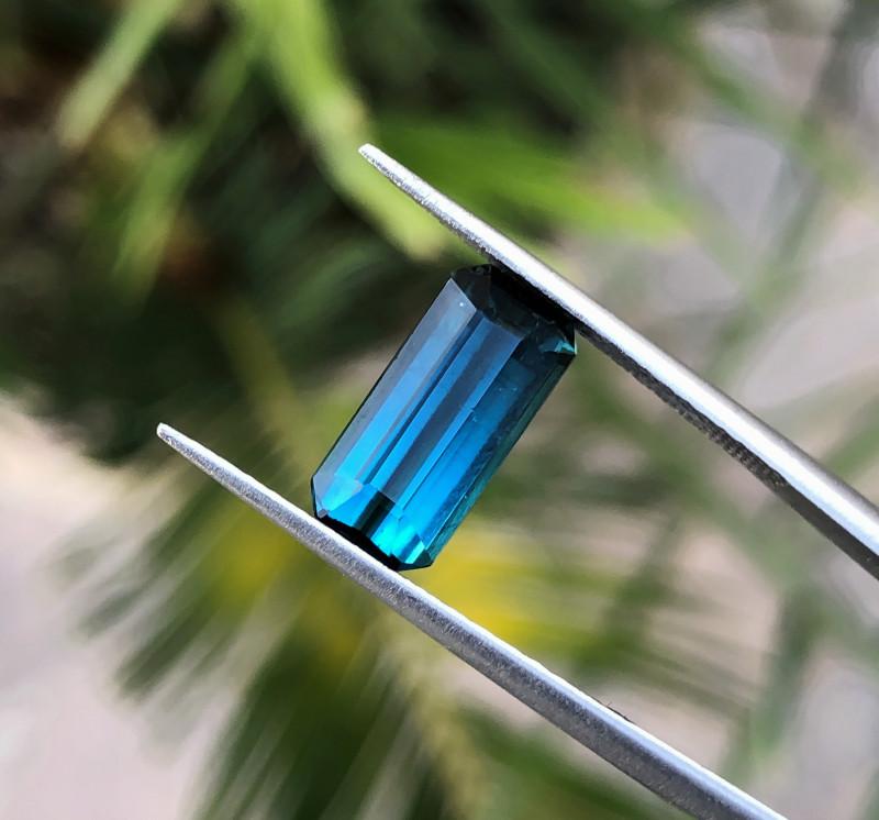 2.50 Ct Natural Dark Blue Transparent Tourmaline Gemstone