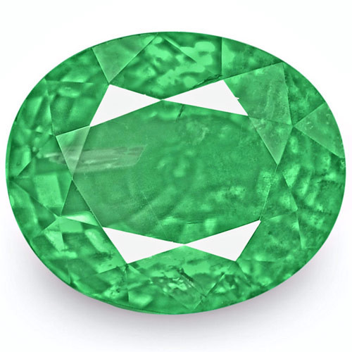 Zambia Emerald, 2.53 Carats, Lustrous Green Oval