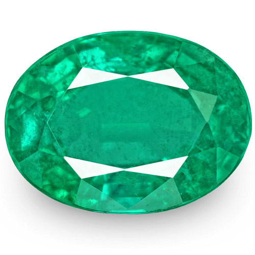 Zambia Emerald, 8.17 Carats, Lively Green Oval