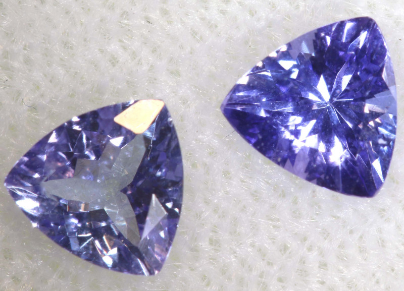 0.89 CTS  TANZANITE  FACETED  STONE PARCEL PG-2852