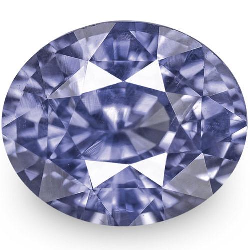 IGI Certified Sri Lanka Blue Sapphire, 1.56 Carats, Vivid Violetish Blue