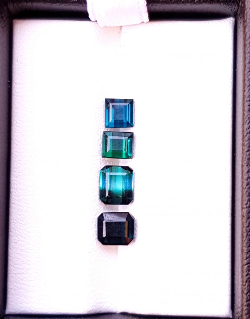 3  Ct Natural Blueish Transparent Tourmaline Gems Parcels