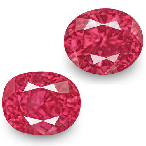 IGI Certified Mozambique Rubies, 2.32 Carats, Fiery Vivid Pinkish Red