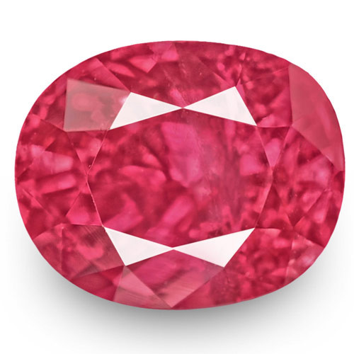 IGI Certified Mozambique Ruby, 1.04 Carats, Fiery Vivid Pinkish Red Oval