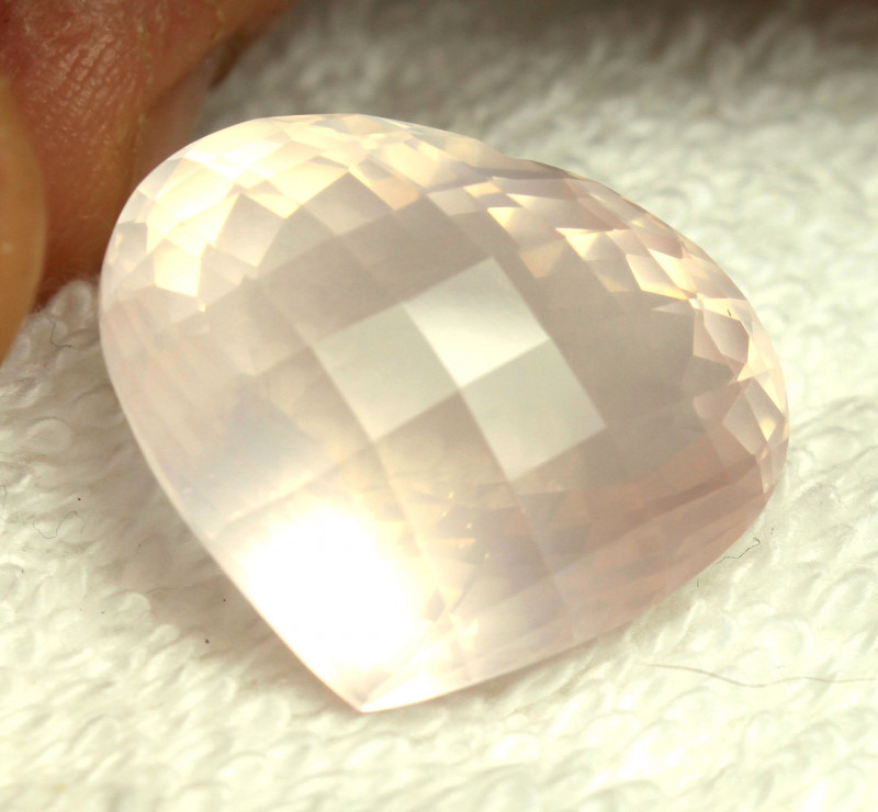 34.95 Ct. Pink African VVS Quartz Heart - Gorgeous