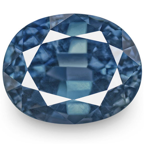 IGI Certified Madagascar Blue Sapphire, 2.20 Carats, Intense Blue Oval