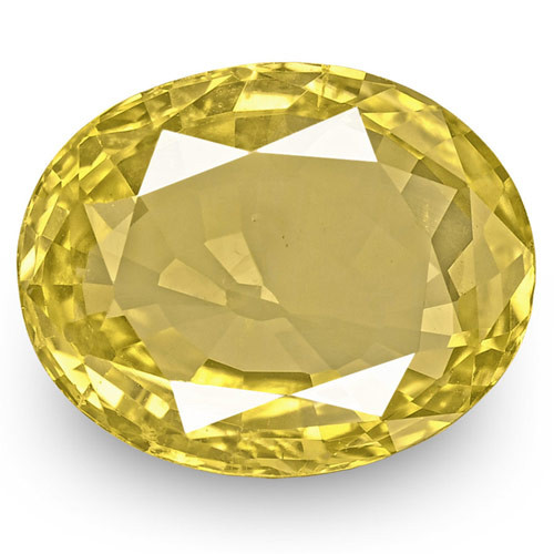GIA Certified Sri Lanka Yellow Sapphire, 6.40 Carats, Deep Yellow Oval