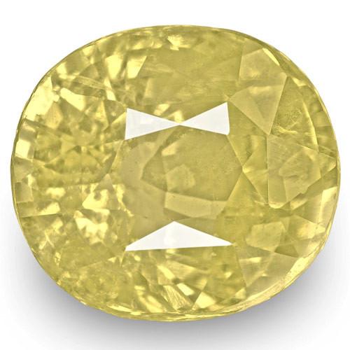 GIA Certified Sri Lanka Yellow Sapphire, 5.74 Carats, Yellow Cushion
