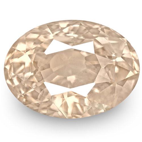 GIA Certified Sri Lanka Pink Sapphire, 2.03 Carats, Light Orangy Pink Oval