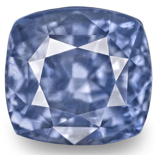 GIA Certified Sri Lanka Blue Sapphire, 8.09 Carats, Velvety Blue Cushion