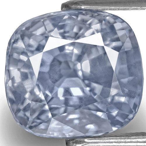 GIA Certified Sri Lanka Blue Sapphire, 7.68 Carats, Pastel Blue Cushion
