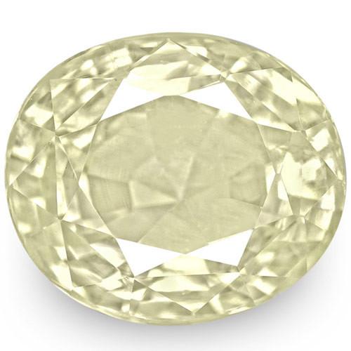 IGI Certified Sri Lanka Yellow Sapphire, 5.33 Carats, Very Light Yellow