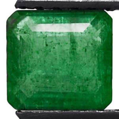 Colombia Emerald, 1.46 Carats, Intense Green Emerald Cut