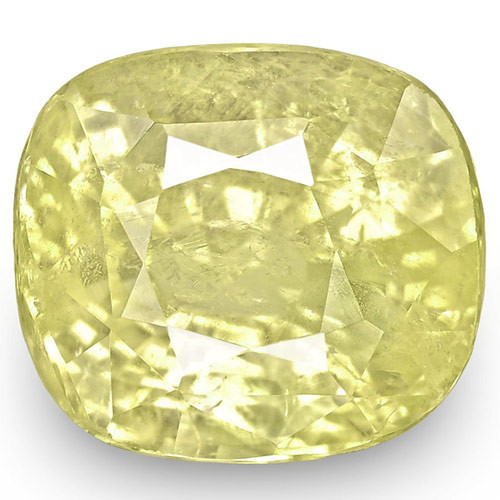 IGI Certified Sri Lanka Yellow Sapphire, 3.88 Carats, Lustrous Yellow