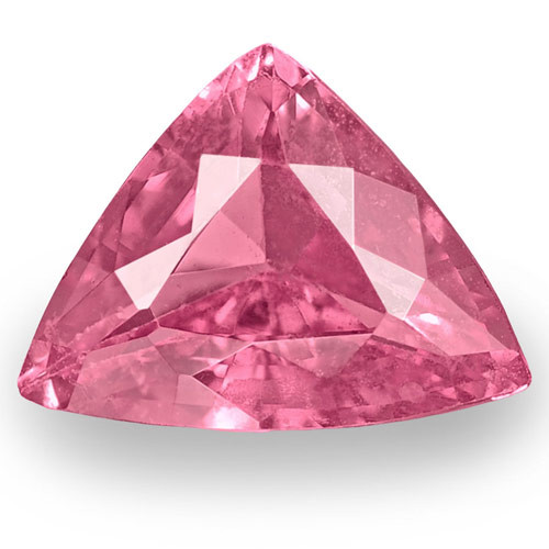 IGI Certified Madagascar Pink Sapphire, 0.89 Carats, Light Pink Trilliant