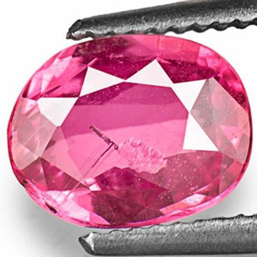 IGI Certified Sri Lanka Pink Sapphire, 1.33 Carats, Deep Pink Oval
