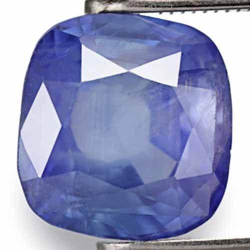 AIGS Certified Sri Lanka Blue Sapphire, 3.54 Carats, Deep Blue Cushion