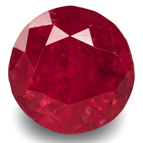 GRS Certified Tajikistan Ruby, 3.12 Carats, Rich Velvety Pinkish Red Round