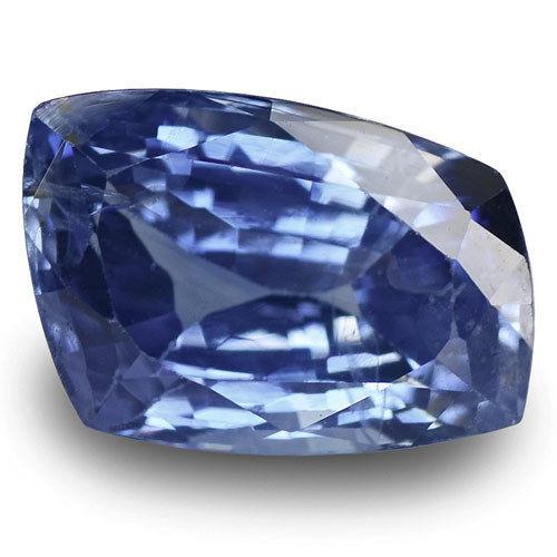 IGI Certified Burma Blue Sapphire, 6.16 Carats, Velvety Blue Fancy Cut