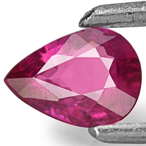 Mozambique Ruby, 0.41 Carats, Pink Red Pear