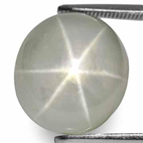 Burma Fancy Star Sapphire, 14.87 Carats, Greyish White Oval