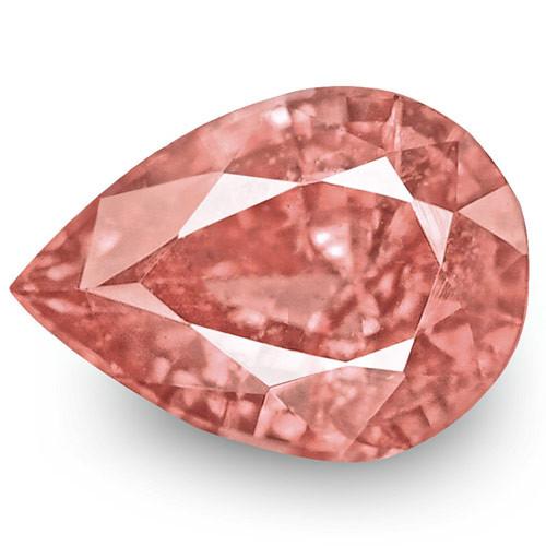 IGI Certified Sri Lanka Padparadscha Sapphire, 0.76 Carats, Pear