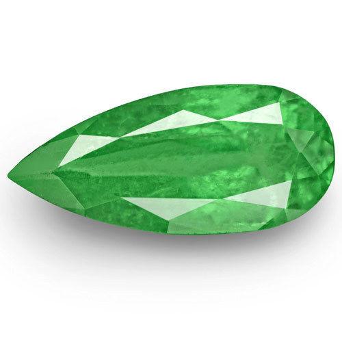 Colombia Emerald, 2.78 Carats, Bright Green Pear