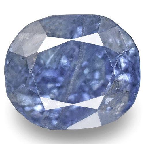 GIA Certified Kashmir Blue Sapphire, 2.57 Carats, Lustrous Blue Oval