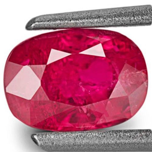 Mozambique Ruby, 1.18 Carats, Pinkish Red Oval