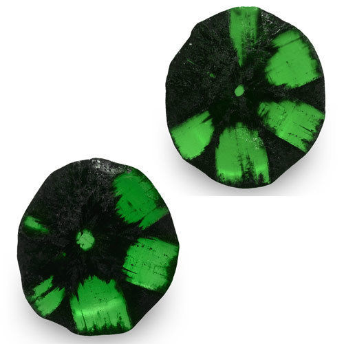 Colombia Trapiche Emeralds, 3.24 Carats, Royal Green Free Form