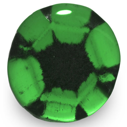Colombia Trapiche Emerald, 1.55 Carats, Rich Green Oval