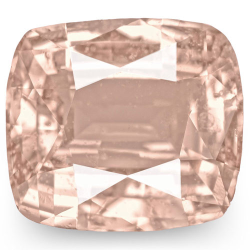 GRS Certified Madagascar Padparadscha Sapphire, 3.17 Carats, Cushion