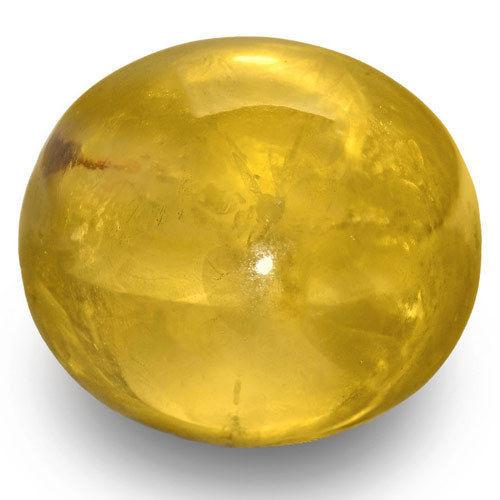 GIA Certified Sri Lanka Yellow Sapphire, 61.33 Carats, Golden Yellow Oval