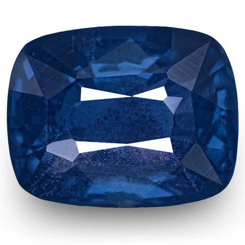 IGI Certified Sri Lanka Blue Sapphire, 1.53 Carats, Royal Blue Cushion