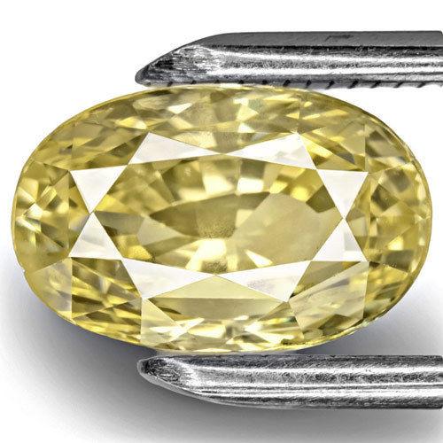GIA Certified Sri Lanka Yellow Sapphire, 4.88 Carats, Medium Yellow Oval