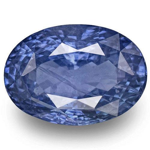 AIGS Certified Sri Lanka Blue Sapphire, 14.85 Carats, Intense Blue Oval