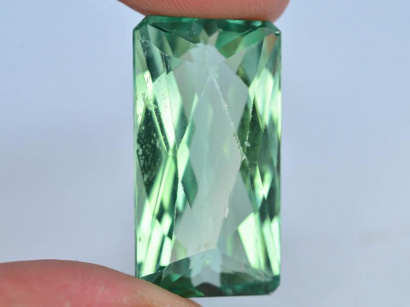 32.45 Ct Green Spodumene Gemstone From Afghanistan~ AA