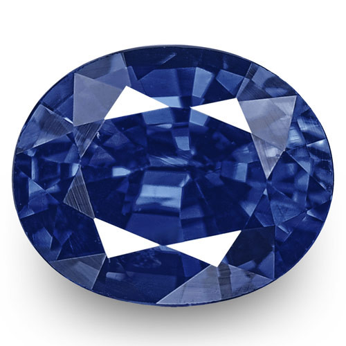GIA Certified Nigeria Blue Sapphire, 0.54 Carats, Rich Cornflower Blue Oval