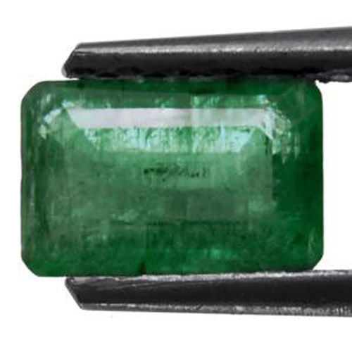 Colombia Emerald, 0.93 Carats, Velvet Green Emerald Cut