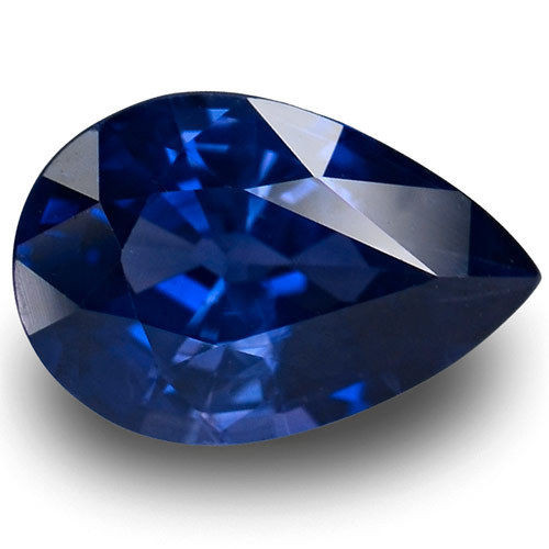 IGI Certified Madagascar Blue Sapphire, 2.07 Carats, Royal Blue Pear