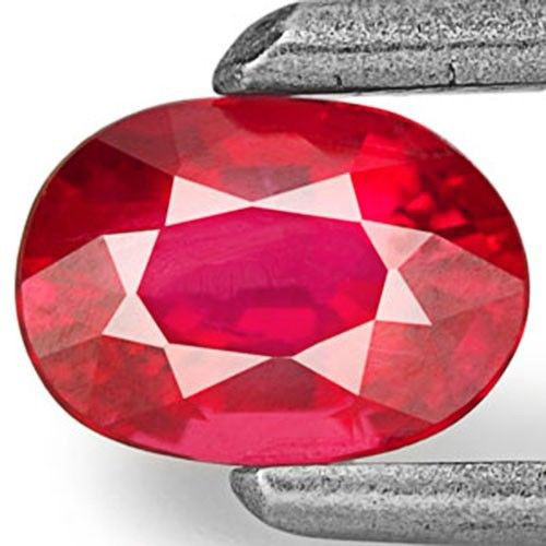 Mozambique Ruby, 0.40 Carats, Bright Orangy Red Oval