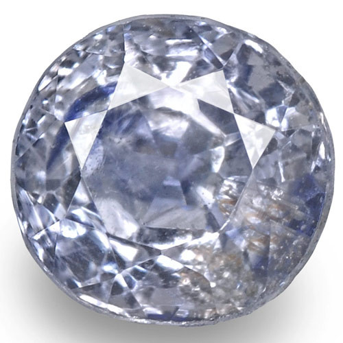 GIA Certified Kashmir Blue Sapphire, 0.87 Carats, Very Light Blue Round