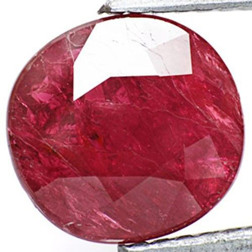 IGI Certified Tanzania Ruby, 2.01 Carats, Maroonish Red Oval