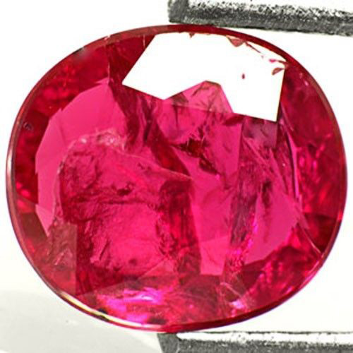 AIGS Certified Mozambique Ruby, 1.20 Carats, Intense Pinkish Red Oval