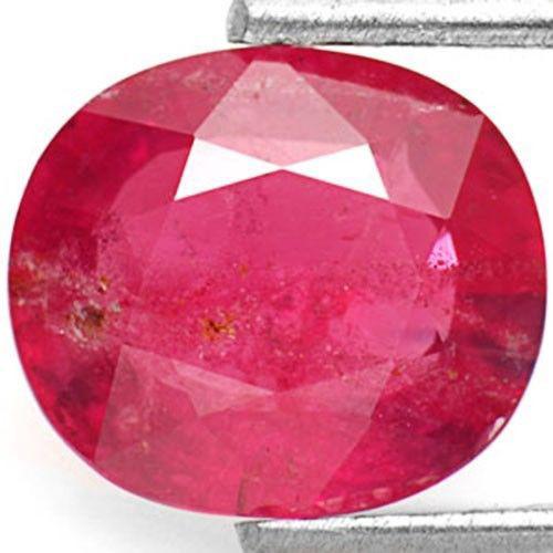 IGI Certified Tanzania Ruby, 1.98 Carats, Deep Pinkish Red Oval