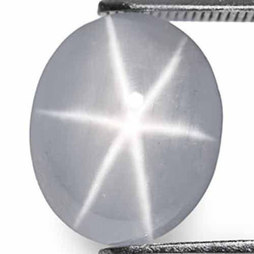 Sri Lanka Fancy Star Sapphire, 8.59 Carats, Deep Bluish Grey Oval