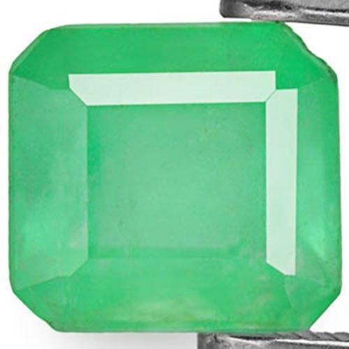 Colombia Emerald, 1.99 Carats, Pale Green Emerald Cut