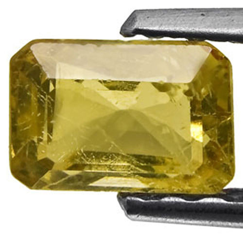 Australia Fancy Sapphire, 0.60 Carats, Yellowish Brown Emerald Cut