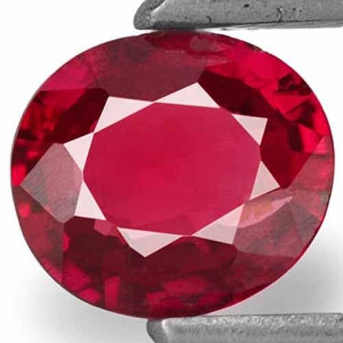 Mozambique Ruby, 0.41 Carats, Intense Red Oval
