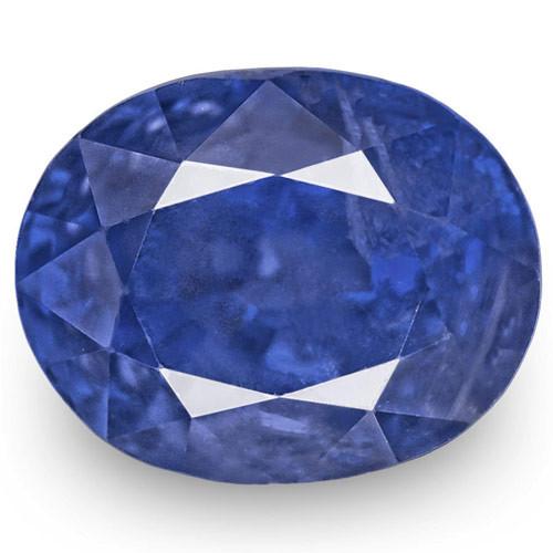 GRS Certified Burma Blue Sapphire, 5.80 Carats, Oval